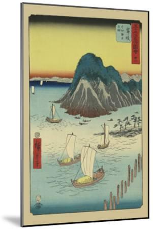 Maisaka-Ando Hiroshige-Mounted Art Print