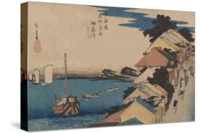 Kanagawa-Ando Hiroshige-Stretched Canvas Print