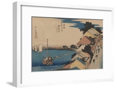 Kanagawa-Ando Hiroshige-Framed Art Print