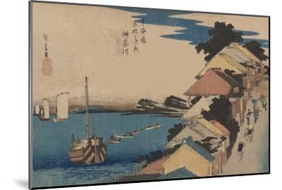 Kanagawa-Ando Hiroshige-Mounted Art Print