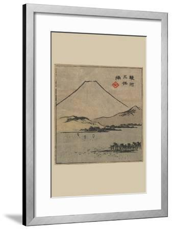 Miho Bay in Suruga (Suruga Miho No Ura)-Ando Hiroshige-Framed Art Print