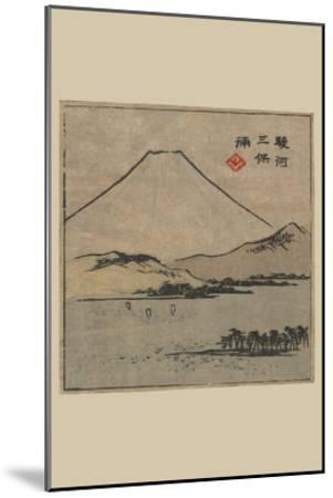 Miho Bay in Suruga (Suruga Miho No Ura)-Ando Hiroshige-Mounted Art Print