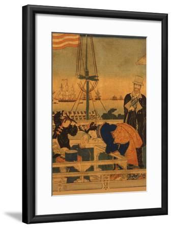 Foreign Mercantile House in Yokohama (Yokohama Ijin Shokan No Zu) No.1-Sadahide Utagawa-Framed Art Print
