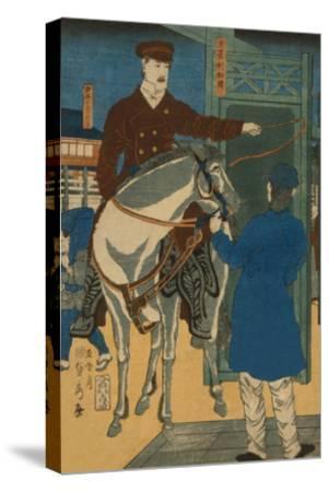 America (Amerikakoku)-Sadahide Utagawa-Stretched Canvas Print