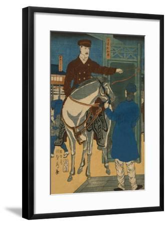 America (Amerikakoku)-Sadahide Utagawa-Framed Art Print