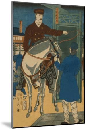 America (Amerikakoku)-Sadahide Utagawa-Mounted Art Print