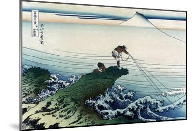 Kajikazawa in Kai Province-Katsushika Hokusai-Mounted Art Print