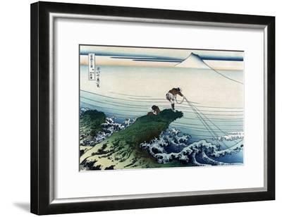 Kajikazawa in Kai Province-Katsushika Hokusai-Framed Art Print