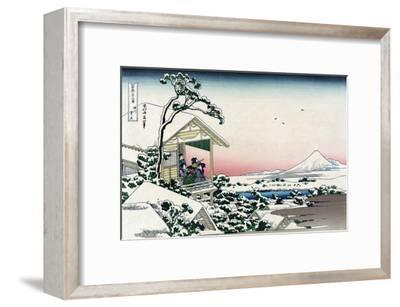 Tea House at Koishikawa-Katsushika Hokusai-Framed Art Print