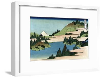 Lake of Hakone in Sagami Province-Katsushika Hokusai-Framed Art Print