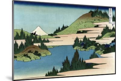 Lake of Hakone in Sagami Province-Katsushika Hokusai-Mounted Art Print