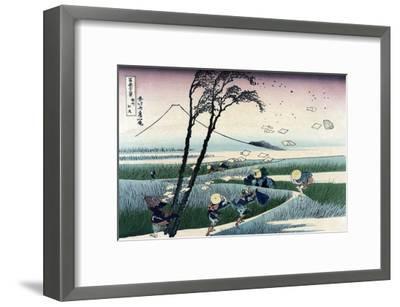 Ejiri in Suruga Province-Katsushika Hokusai-Framed Art Print