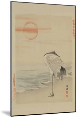 Heron--Mounted Art Print