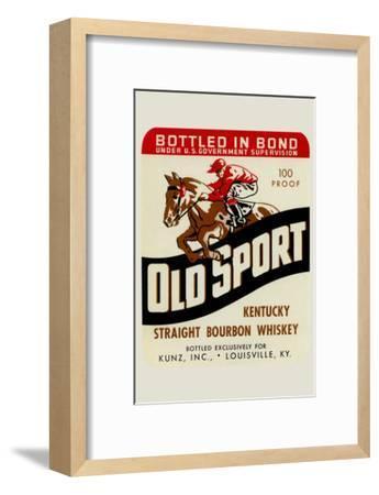 Old Sport Kentucky Straight Bourbon Whiskey--Framed Art Print