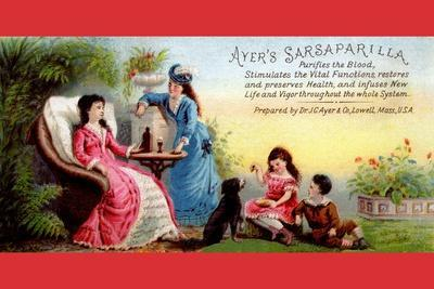 Ayer's Sarsaparilla Purifies the Blood--Stretched Canvas Print