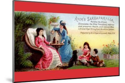 Ayer's Sarsaparilla Purifies the Blood--Mounted Art Print