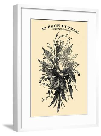 12 Face Puzzle-American Puzzle Co-Framed Art Print