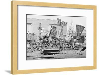 Civil War Train Wreck--Framed Art Print