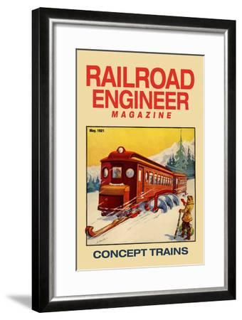 Railroad Engineer Magazine: Concept Trains--Framed Art Print