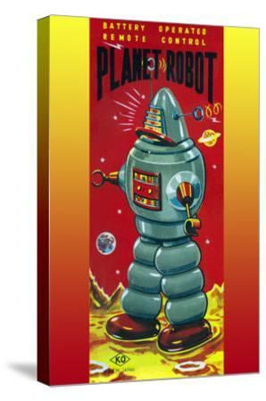 Planet Robot--Stretched Canvas Print
