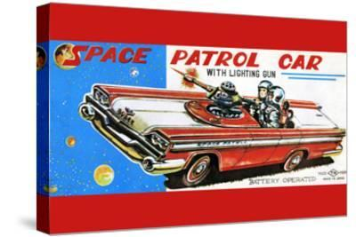 Space Patrol Car--Stretched Canvas Print
