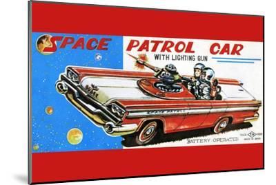 Space Patrol Car--Mounted Art Print