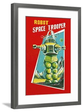 Robot Space Trooper--Framed Art Print