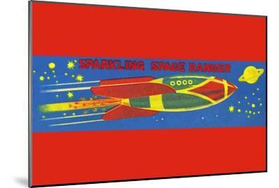 Sparkling Space Ranger--Mounted Art Print
