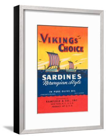 Vikings Choise Sardines--Framed Art Print