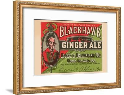Blackhawk Ginger Ale--Framed Art Print