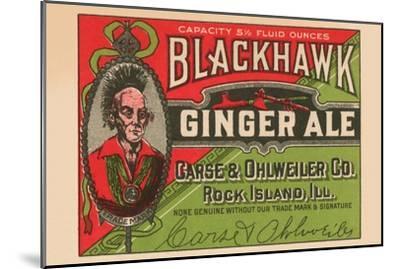 Blackhawk Ginger Ale--Mounted Art Print