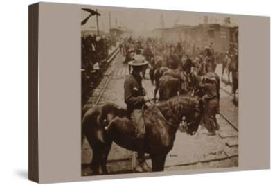 """Roosevelt's """"Rough Rider's"""" Arrival at Tampa, Fla., U.S.A.--Stretched Canvas Print"""