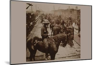 """Roosevelt's """"Rough Rider's"""" Arrival at Tampa, Fla., U.S.A.--Mounted Art Print"""
