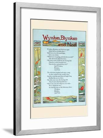 Wynken, Blynken, and Nod-Eugene Field-Framed Art Print