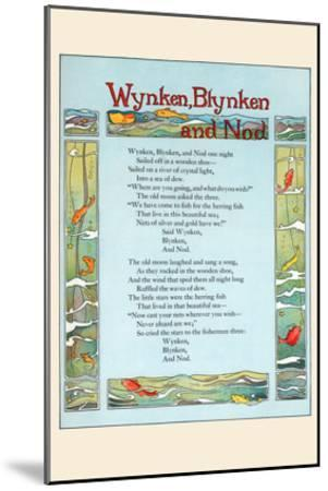 Wynken, Blynken, and Nod-Eugene Field-Mounted Art Print