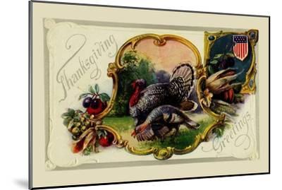 Thanksgiving Greetings--Mounted Art Print