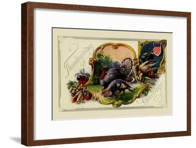 Thanksgiving Greetings--Framed Art Print