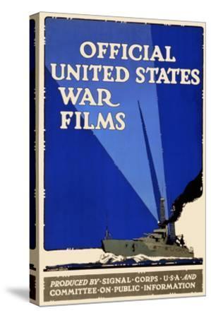 Official United States War Films- U.S. Gov't-Stretched Canvas Print