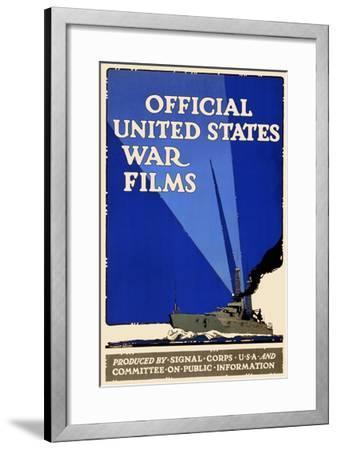 Official United States War Films- U.S. Gov't-Framed Art Print