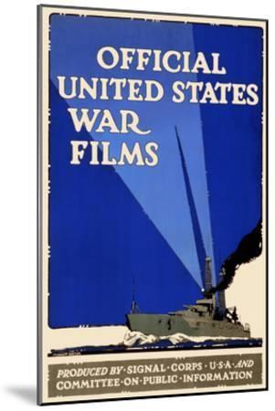 Official United States War Films- U.S. Gov't-Mounted Art Print