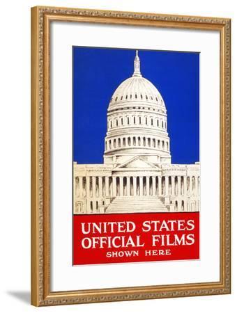 United States Official Films Shown Here- U.S. Gov't-Framed Art Print