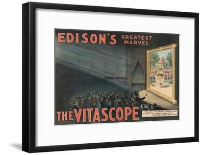 Edison's Greatest Marvel--The Vitascope Art Print by Raff & Gammon   Art com