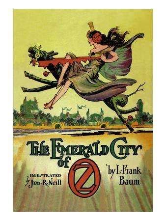 The Emerald City of Oz-John R^ Neill-Stretched Canvas Print