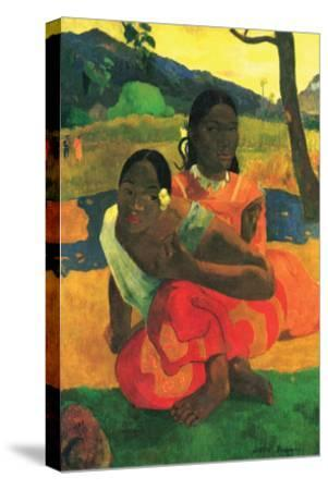 When You Hear-Paul Gauguin-Stretched Canvas Print