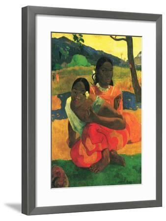 When You Hear-Paul Gauguin-Framed Art Print