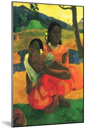 When You Hear-Paul Gauguin-Mounted Art Print
