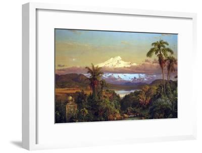 Cayambe, Ecuador-Frederic Edwin Church-Framed Art Print