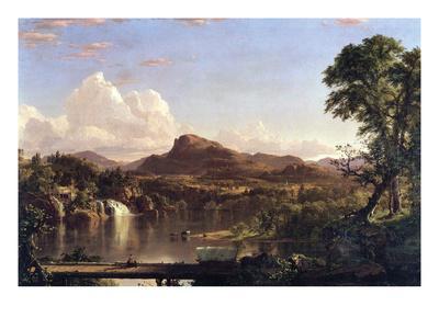 New England Scene-Frederic Edwin Church-Framed Art Print