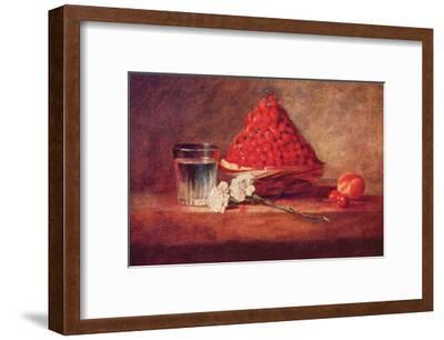 Still Life of a Strawberry Basket-Jean-Baptiste Simeon Chardin-Framed Art Print