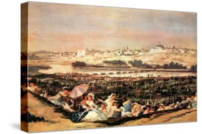 Folk Festival at the San Isidro-Day-Francisco de Goya-Stretched Canvas Print